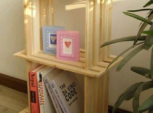 宜家实木2格架 简易书架置物架 鞋架储物架 花架展示架 桌上木架,收纳架,