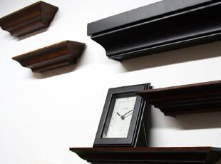 外贸宜家风田园挂墙壁一字隔板置物架实木烤漆三种颜色三种尺寸,收纳架,