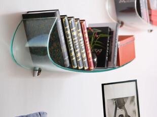 壁挂书架 办公室创意家具 透明 简易 墙上置物架 层板 搁板架隔板,收纳架,