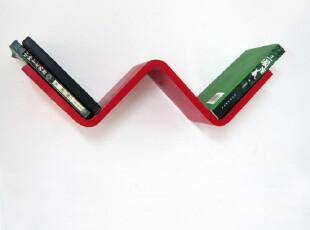 鹿游记创意格子圆角W形搁架背景墙装饰创意格子时尚吊架搁板书架,收纳架,
