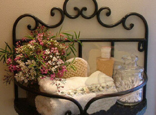 铁艺浴室置物架 毛巾架 厨房壁挂纸巾 香水架 肥皂架,收纳架,