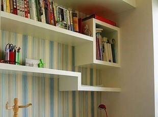 温馨家居隔板壁架CD架电视背景装饰墙上置物书架壁挂创意格子层板,收纳架,
