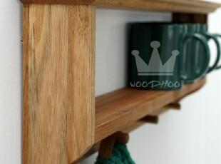 包邮出口外贸原单WOODHOO 纯实木厨卫置物架 浴室架 墙壁架,收纳架,