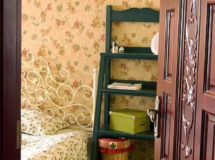 地中海风格 仿旧置物架 书架 音响架     搁物架 实木家具定制,收纳架,