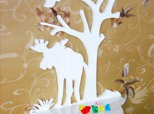 大角鹿挂架创意家居儿童家具搁板置物架置物架花架壁挂架,收纳架,
