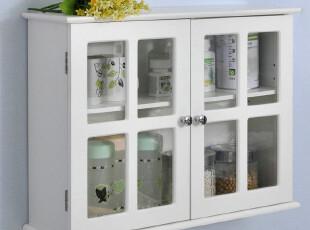 百松居收纳柜置物架 浴柜壁柜挂柜橱柜 欧式白色储物柜宜家特价,收纳柜,