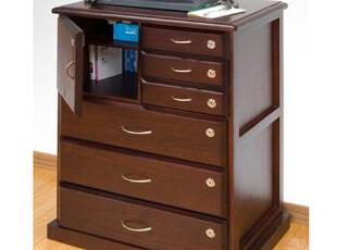 实木家具 多功能保密文件柜、传真台、保密床头柜,收纳柜,