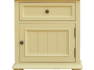 2012地中海田园简欧韩式实木家具卧室床头柜带抽屉储物柜可定制,收纳柜,