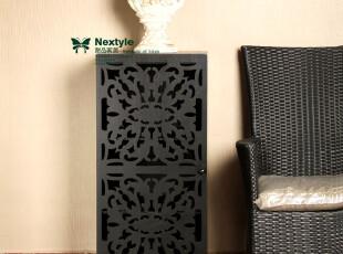 新古典复古风格 后现代木制黑色立柜边柜电话机柜储物柜 超级特价,收纳柜,