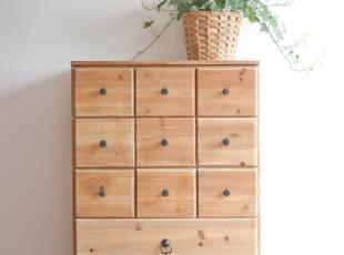 zakka 文艺10格小柜子  清新复古做 木质杂物收纳柜 床头柜 特价,收纳柜,