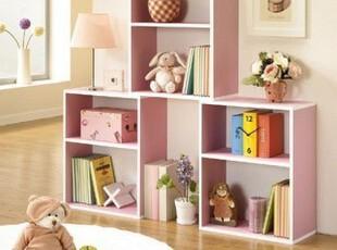 爱莱屋书柜自由组合韩式书柜宜家柜子书橱简易书架儿童储物简易,收纳柜,