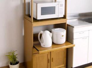 香木语实木电器柜 厨房餐边柜/微波炉/电饭煲、豆浆机多用收纳,收纳柜,