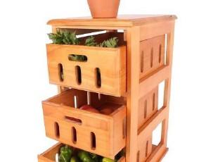 华森家具 出口实木家具 三斗蔬菜储物柜 可定制 HS-016,收纳柜,