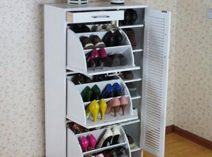 实木翻斗鞋柜  大容量鞋柜 百叶鞋柜,收纳柜,
