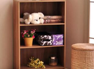 百松居三层书柜书架 木质边柜储物柜 杂物柜环保正品特价BS095,收纳柜,