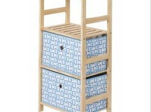 百松居实木带抽屉储物柜 防尘收纳柜置物架 书架客厅斗柜宜家特价,收纳柜,