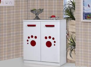 【家具精品馆】板式鞋柜 可爱白色小脚丫图案鞋柜 牙买加 JM-022,收纳柜,