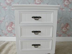 简约家居饰品 韩式白色欧式田园风格三斗柜 床头柜 特价,收纳柜,