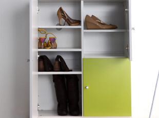 恩嘉依 大鞋柜放靴子三门田园现代简约玄关进门门厅客厅隔断鞋柜,收纳柜,