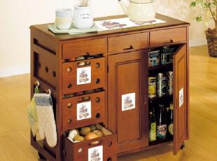 实木餐边柜 蔬菜储藏柜 碗筷柜 厨房柜,收纳柜,
