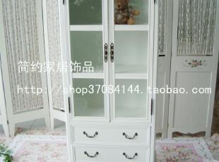 简约家居饰品 韩式白色书柜 玻璃柜 展示柜 酒柜 办公室文件柜,收纳柜,