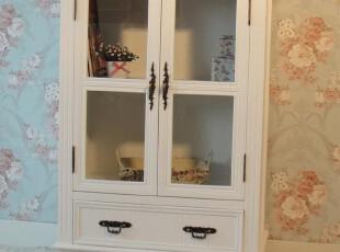 简约家居饰品 韩式白色玻璃柜 小衣柜 书柜 门厅玄关柜新款,收纳柜,