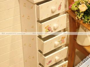 熙岸~韩式田园小熊儿童房七抽屉斗柜床头柜杂物柜子收纳出口,收纳柜,