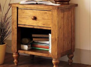 仿potterybarn乡村气息床头柜/美式欧式家具/实木家具定做/P002,收纳柜,
