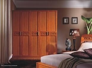 宜家风格家具 中式实木 整体两门三门五门衣柜 更衣柜 衣橱8A03,收纳柜,