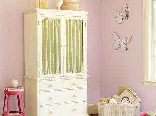 艾伦艾妮菲比 衣柜 储物柜 儿童家具套装 实木衣柜 公主套房 美式,收纳柜,