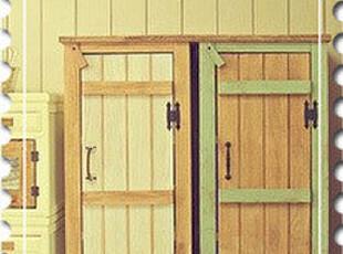 美式乡村/地中海风格衣柜美克美家实木专业定制/做旧家具储物柜,收纳柜,