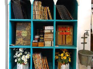 地中海风格 书柜 搁架 置物架 玩具架 全实木手工打造,收纳柜,