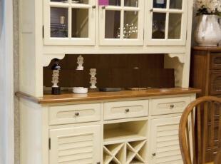 爱琴海实木餐边柜 酒柜 储物柜 储藏柜 地中海风格家具定做北京,收纳柜,