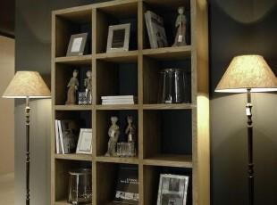 欧式简约适用性仿古橡木色多格橡木书柜/预定,收纳柜,