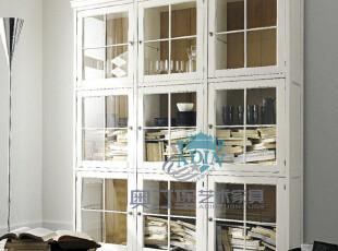 【淘品牌】奥汀堡英式家具 新古典 装饰柜 实木书柜D 1177J X,收纳柜,
