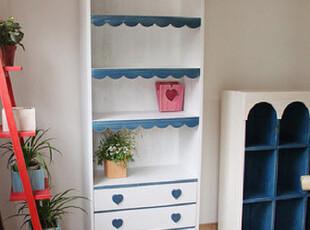 地中海家具 纯实木 爱情海波浪餐边柜 书柜【预定】,收纳柜,