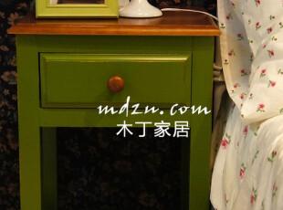 木丁家居田园木质松木收纳柜 床头柜小儿童柜 小柜子 床头收纳柜,收纳柜,