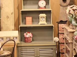 乡村风格 欧式 做旧灰色迷情海洋多功能组合层柜 餐边柜 陈列柜,收纳柜,