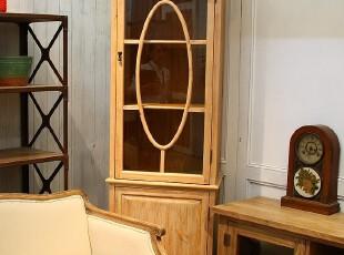 法式乡村风格家具 复古做旧松木高柜 书柜 陈列柜T602,收纳柜,