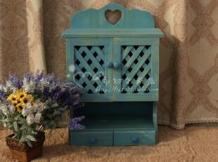 欧式家具韩式壁挂田园壁柜地中海厨浴柜置物柜实木壁架宜家收纳柜,收纳柜,