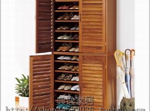 『青岛外贸出口日本家具』百叶门 鞋柜 75厘米宽 两件一组,收纳柜,