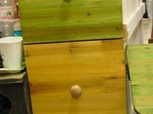 水果沙拉   黄绿 实木三斗柜(全实木手工打造),收纳柜,