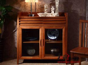 和购 水曲柳家具 欧式餐边柜 实木备餐柜 储物柜 简约餐边柜7101K,收纳柜,