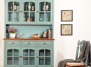 餐边柜 酒柜 储物柜 展示柜 地中海风格装修效果参考 碗碟柜,收纳柜,