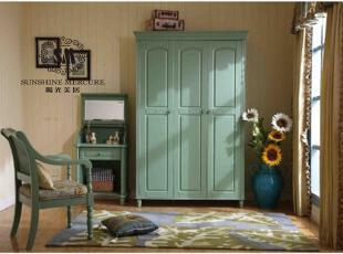 英式韩式田园家具/比肩奥立克DD1211三门衣柜橄榄绿,收纳柜,