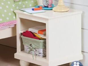 艾伦艾妮安吉拉 儿童床头柜 美式简约小床头柜 储藏柜 实木家具,收纳柜,