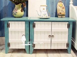 实拍!地中海家具 实木手工维罗纳小柜 电视柜 收纳柜 飘窗柜00,收纳柜,