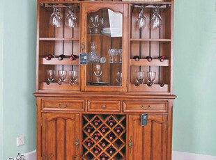 逸美居-欧美式家具/古典/乡村/简美风格-YH-519实木酒柜/餐边柜,收纳柜,