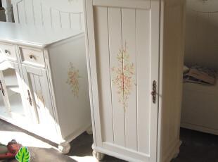 【三月乡村风】实木田园风格美式韩式手绘家具彩绘茉莉花多用途柜,收纳柜,