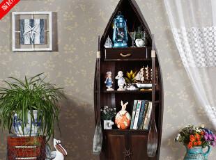 特价 欧式风格 家居装饰 书柜 140cm棕色储物柜 船柜 书架书柜,收纳柜,